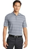 Nike Golf Dri-fit Fade Stripe Polo Dark Steel Grey with Anthracite Thumbnail