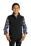Youth Value Fleece Vest Black Thumbnail