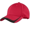 Pique Colorblock Cap True Red with Black Thumbnail