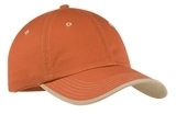 Vintage Washed Contrast Stitch Cap Burnt Orange with Light Sand Thumbnail