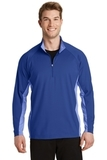 SportWick Stretch Contrast 1/2-Zip Pullover True Royal with True Royal Heather Thumbnail