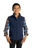 Youth Value Fleece Vest True Navy Thumbnail