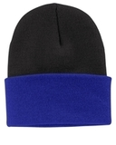 Knit Cap Black with Athletic Royal Thumbnail