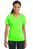 Women's Racermesh V-neck Tee Neon Green Thumbnail
