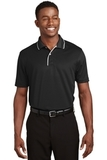 Dri-mesh Polo Shirt With Tipped Collar And Piping Black with White Thumbnail