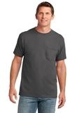 5.4-oz 100 Cotton Pocket T-shirt Charcoal Thumbnail