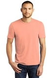 District Made Perfect Tri Crew Tee Heathered Dusty Peach Thumbnail