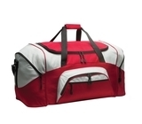 Colorblock Sport Duffel Red with Grey Thumbnail