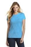 Women's Fitted Perfect Tri Tee Turquoise Frost Thumbnail