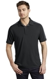 OGIO Trax Moisture Wicking Polo Blacktop with Diesel Grey and Signal Red Thumbnail