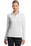 Women's Nike Golf Long Sleeve Dri-FIT Stretch Tech Polo Shirt White Thumbnail