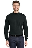 Interlock Knit Mock Turtleneck Black Thumbnail