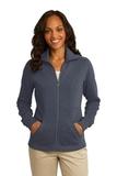 Women's Port Authority Slub Fleece Full-zip Jacket Slate Grey Thumbnail