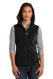 Women's Port Authority R-tek Pro Fleece Full-zip Vest Black with Black Thumbnail