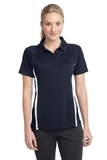Women's Micro-mesh Colorblock Polo True Navy with White Thumbnail