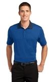 Fine Stripe Performance Polo Seaport Blue with Dress Blue Navy Thumbnail