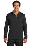 Nike Golf Dri-FIT Stretch 1/2-Zip Cover-Up Black with Dark Grey Thumbnail