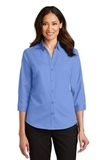 Women's 3/4Sleeve SuperPro Twill Shirt Ultramarine Blue Thumbnail