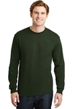 Dryblend 50 Cotton/50 Dryblend Poly Long Sleeve T-shirt Forest Green Thumbnail