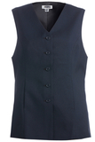 Women's Polyester Tunic Vest Dark Navy Thumbnail