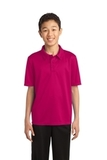 Youth Silk Touch Performance Polo Pink Raspberry Thumbnail