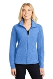Women's Heather Microfleece Full-Zip Jacket Light Royal Heather Thumbnail