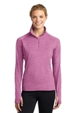 Women's Stretch 1/2-zip Pullover Pink Rush Heather Thumbnail