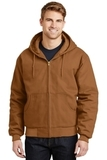 Duck Cloth Hooded Work Jacket Duck Brown Thumbnail