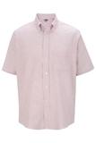 Men's Dress Button Down Oxford SS Burgundy Stripe Thumbnail