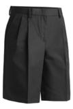 Women's Pleated Flat Front Short Black Thumbnail