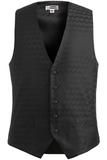 Men's Swirl Brocade Vest Black Thumbnail