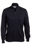 Women's Full Zip Cardigan Navy Thumbnail