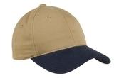 2-tone Brushed Twill Cap Khaki with Navy Thumbnail