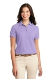 Women's Silk Touch Polo Shirt Bright Lavender Thumbnail