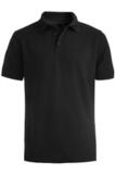 Men's Short Sleeve Soft Touch Blended Pique Polo Black Thumbnail
