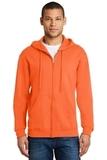 Full-zip Hooded Sweatshirt Safety Orange Thumbnail