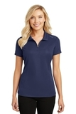 Women's Pinpoint Mesh Zip Polo True Navy Thumbnail