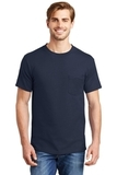 Beefy-t 100 Cotton T-shirt With Pocket Navy Thumbnail