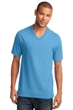5.4-oz 100 Cotton V-neck T-shirt Aquatic Blue Thumbnail