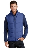 Puffy Vest Mediterranean Blue with Black Thumbnail