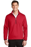 Active 1/2-Zip Soft Shell Jacket Rich Red Thumbnail