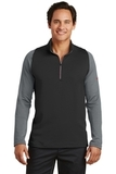 Nike Golf Dri-FIT Stretch 1/2-Zip Cover-Up Black with Dark Grey and Gym Red Thumbnail