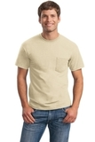 Ultra Cotton 100 Cotton T-shirt With Pocket Sand Thumbnail