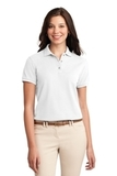Women's Silk Touch Polo Shirt White Thumbnail
