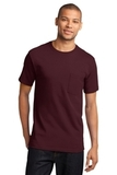100 Cotton T-shirt With Pocket Athletic Maroon Thumbnail