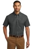 Short Sleeve Carefree Poplin Shirt Graphite Thumbnail