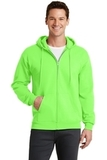 7.8-oz Full-zip Hooded Sweatshirt Neon Green Thumbnail