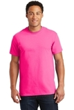 Ultra Cotton 100 Cotton T-shirt Safety Pink Thumbnail