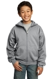 Youth Full-zip Hooded Sweatshirt Athletic Heather Thumbnail