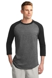 Colorblock Raglan Jersey Dark Heather Grey with Black Thumbnail